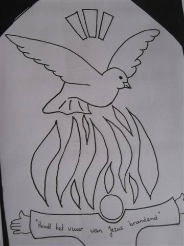 Kleurplaten Eucharistie.Heilig Hart Kerk Lemelerveld